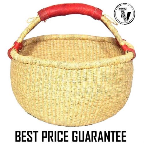 bolga basket round - natural
