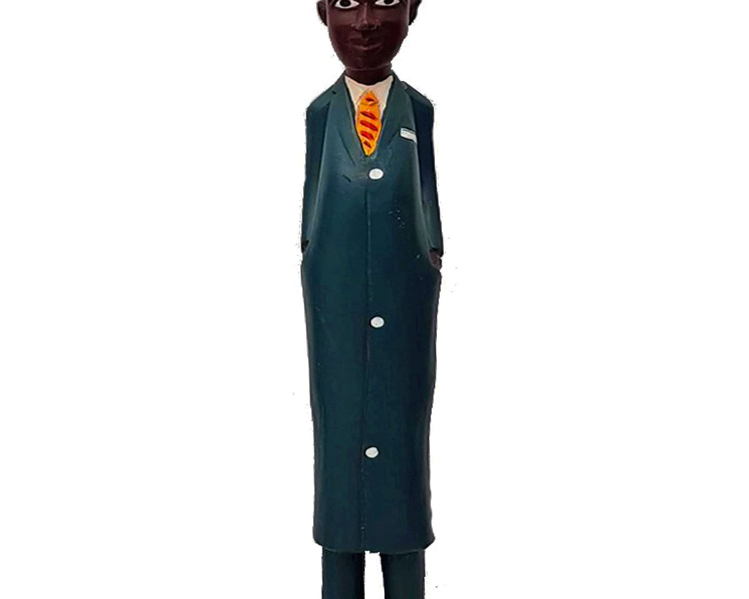 African Colonial Figure Business Man