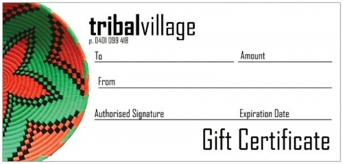 tribal village gift voucher
