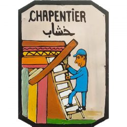 moroccan tin sign - carpenter