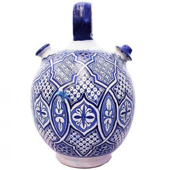 Moroccan Fassi Ceramic Water Jug