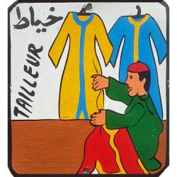 moroccan tin sign - tailleur