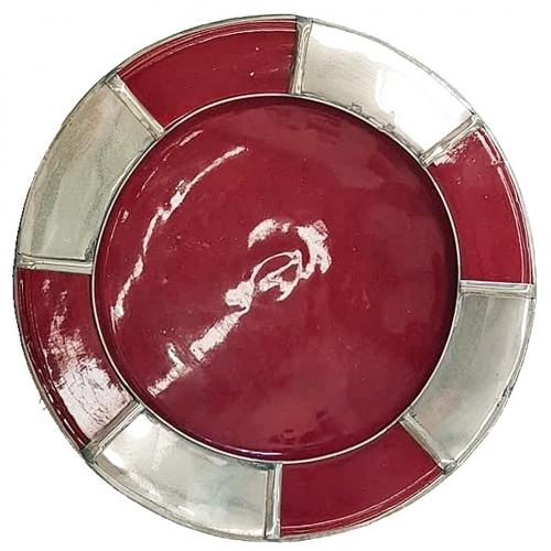Safi Moroccan Ceramic/Silver Plate
