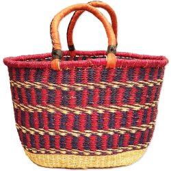 Bolga Basket Oval - Shades of Violet