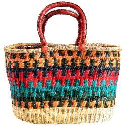 Bolga Basket Oval - Vivid Colours