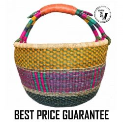 Bolga Basket Round – Colourful