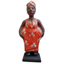 African Mama Handcarved Statue