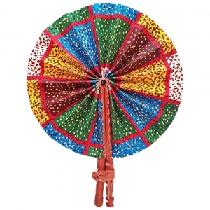 Leather fan - Ankara Collection