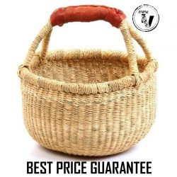 Bolga Basket natural mini round