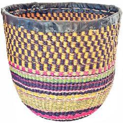 Bolga Basket Planter Waste Bin