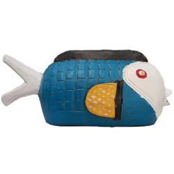 bozo fish black blue white