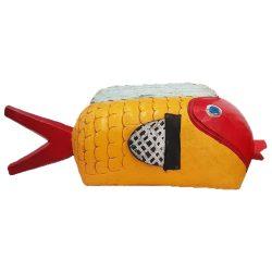 bozo fish yellow red