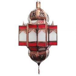 fez moroccan light red