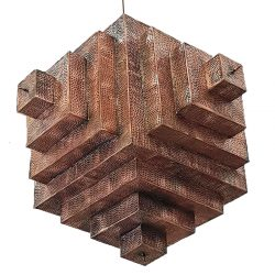 inscribed square moroccan lantern