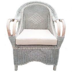 Seagrass Grey/White Kasbah chair