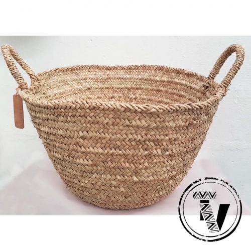 moroccan woven bucket basket