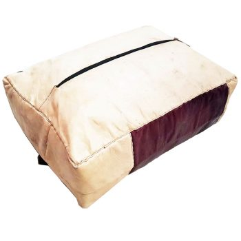 african hausa leather ottoman
