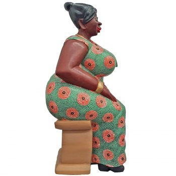 African Mama hand-carved statue
