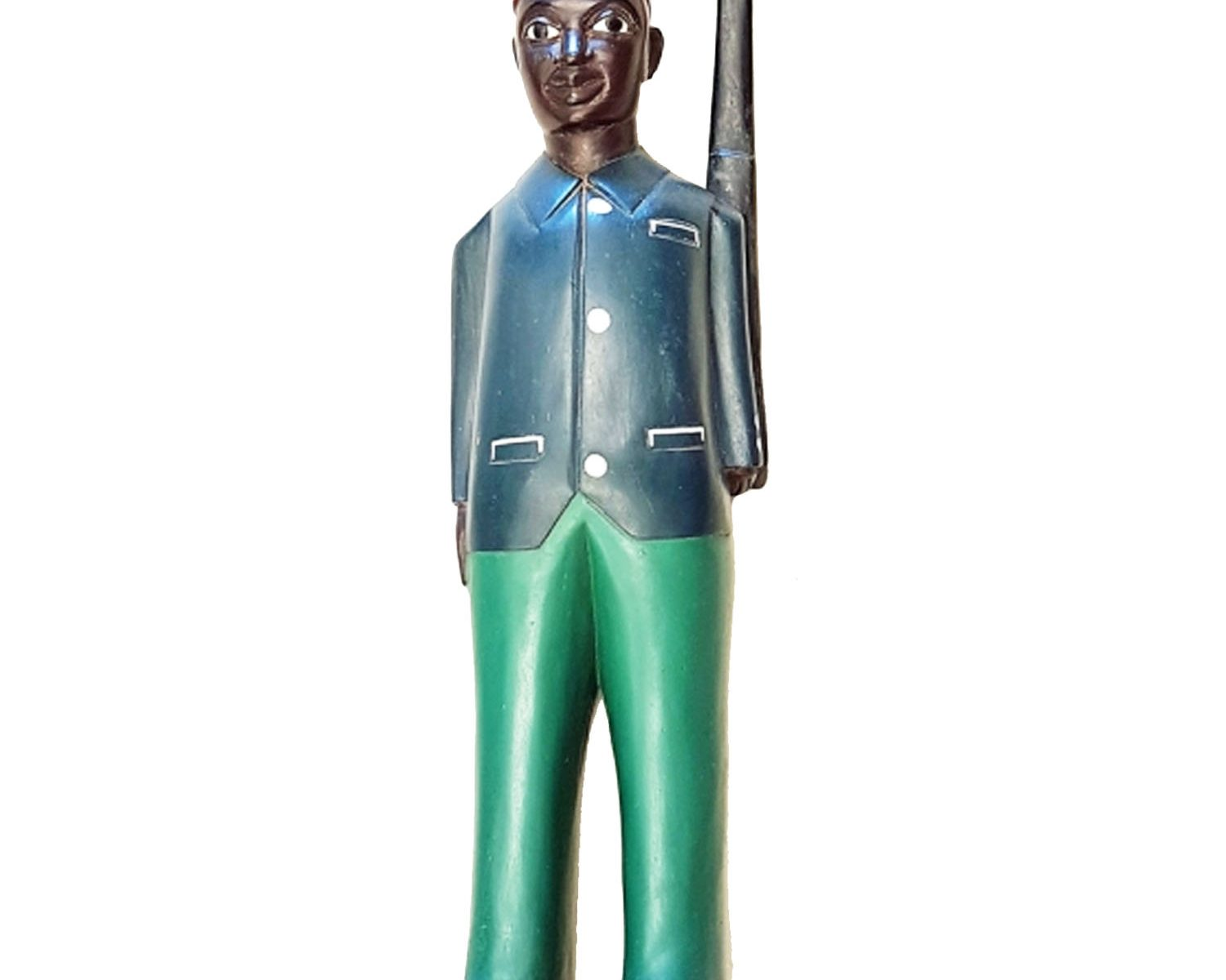 AFRICAN COLONIAL FIGURE GUARD