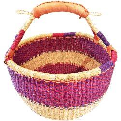 Bolga Basket Round Woven