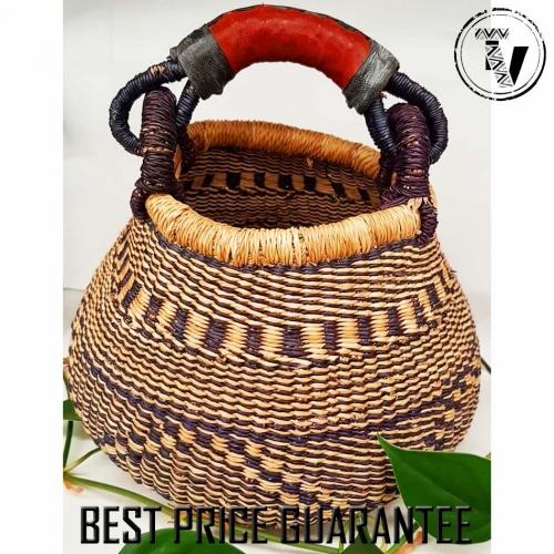 Bolga Basket Pot Medium