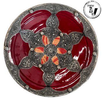 Moroccan Ceramic & Silver Plate