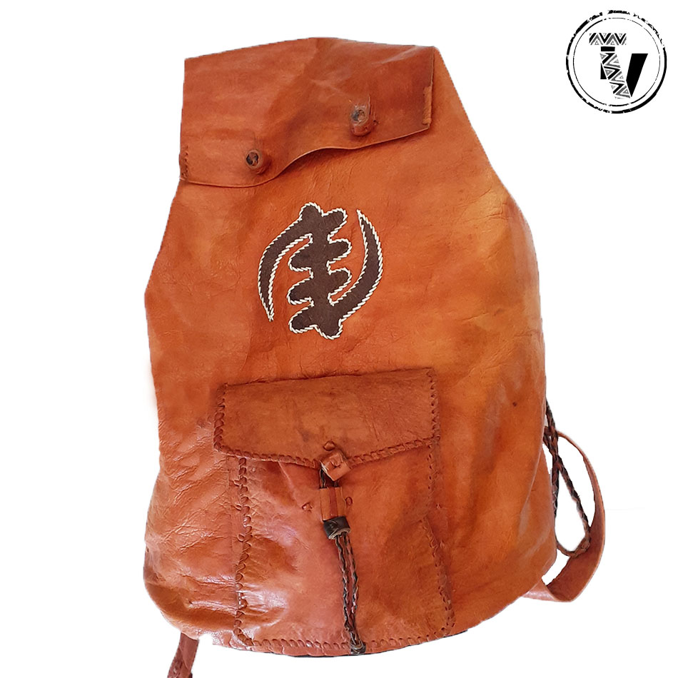 African Leather Handcrafted Backpack