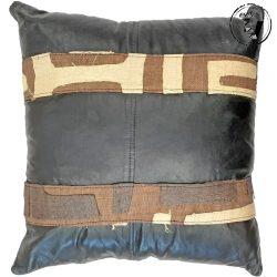 Congo Kuba Leather Cushion