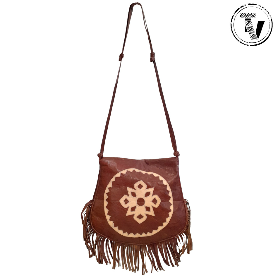 Hausa leather Shoulder Bag