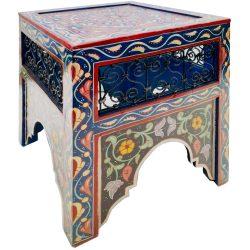 Mashrabiya Painted Side Table
