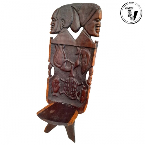 Carved Wooden Malawi Chair