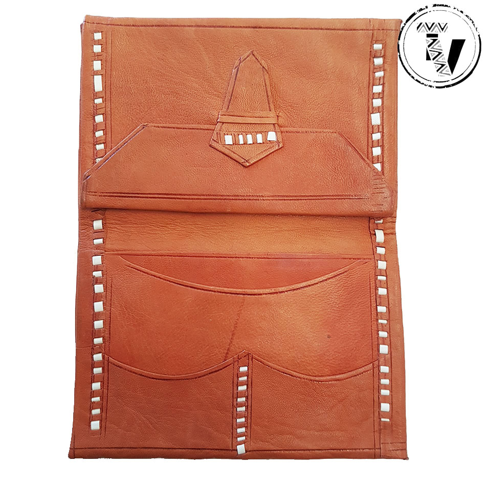Moroccan Tooled Leather Wallet