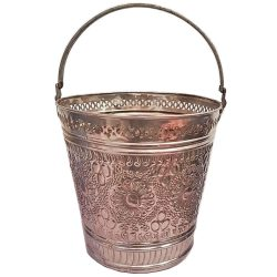 Moroccan Hammam Silver Bucket