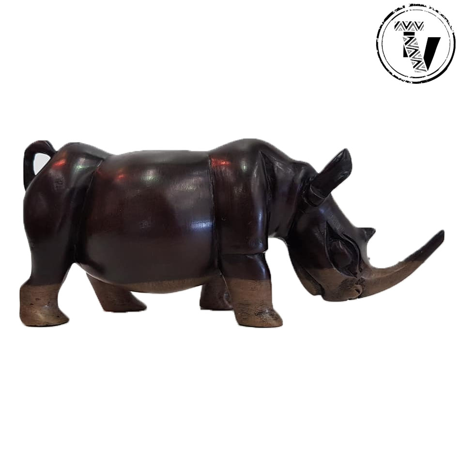 Ebony Wood Carved Rhino