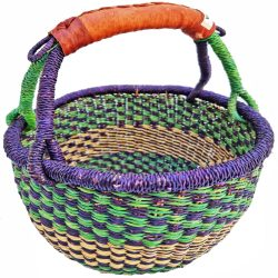 Bolga Basket Small Round