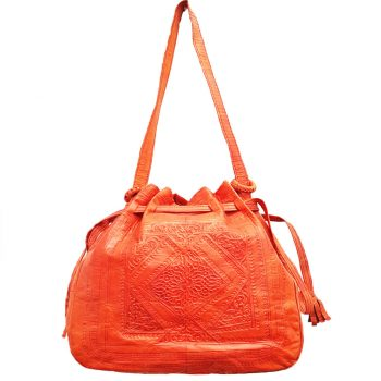 Moroccan Camel Leather Bag