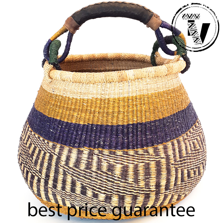Bolga Basket Pot Large
