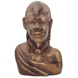 Maasai Bronze Warrior Bust