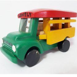 Handcrafted Wooden Bolekaja Bus