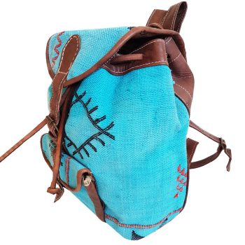 Moroccan Leather Cactus Backpack