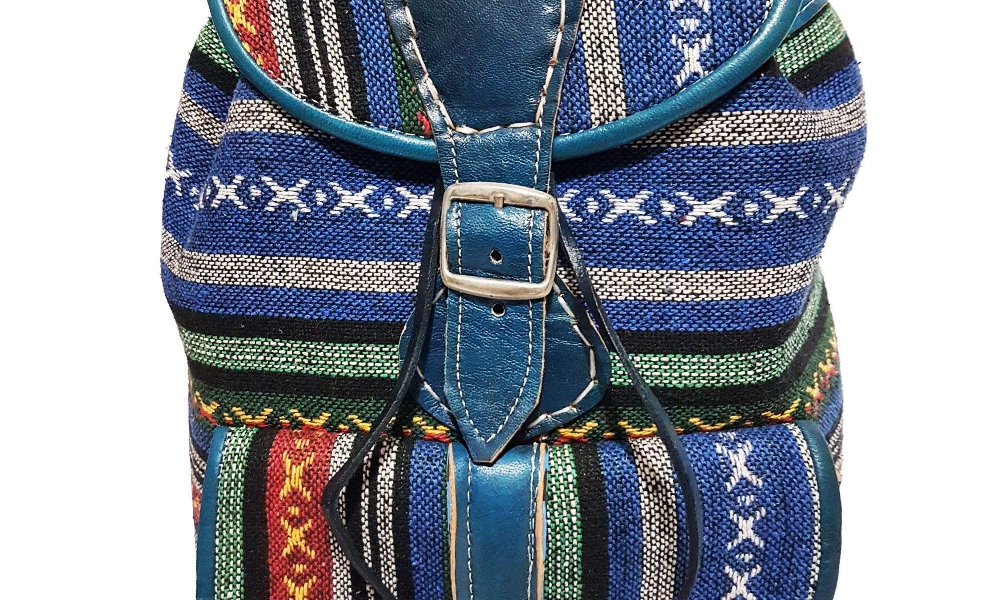 Moroccan Leather Kilim Backpack