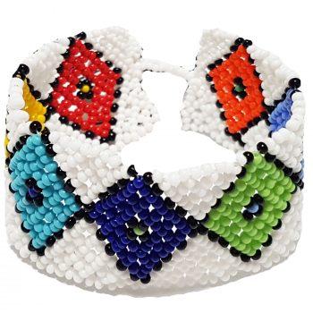 Zulu Beaded Flat Bracelet