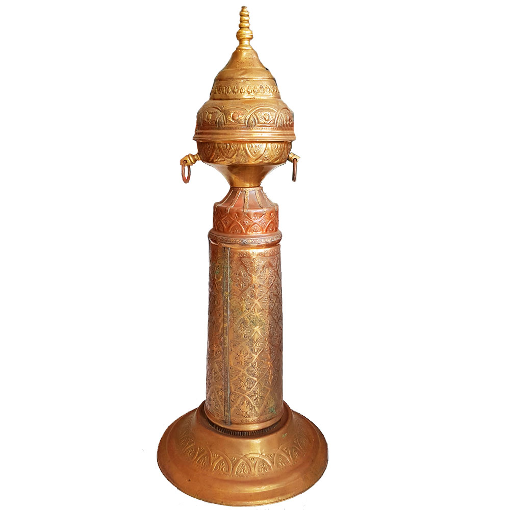 Moroccan Antique Brass Stanchion