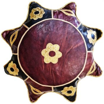 African Hausa Leather Cushion