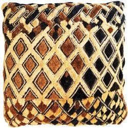 Kasai Velvet Raffia Cushion