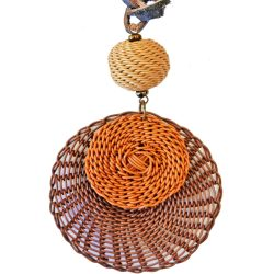 Telephone Wire Disc Necklace
